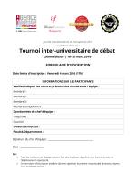 Tournoi inter-universitaire de débat