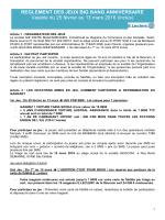 REGLEMENT DES JEUX BIG BANG ANNIVERSAIRE Valable du 25