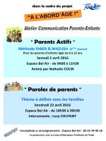 """"""" Paroles de parents """" """" Parents Actifs """""""