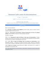 Lutte contre les discriminations - 31 mai et 1er juin 2016
