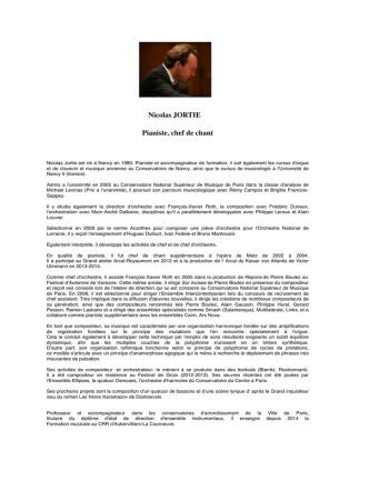 Biographie Piano - les chœurs lacryma voce