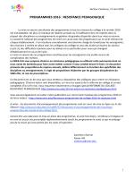 programmes 2016 : resistance pedagogique