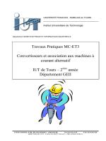 Travaux Pratiques MC-ET3 Convertisseurs et association aux