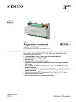 Régulateur terminal RXB39.1