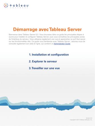 Démarrage avec Tableau Server