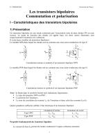 Polarisation des transistors bipolaires