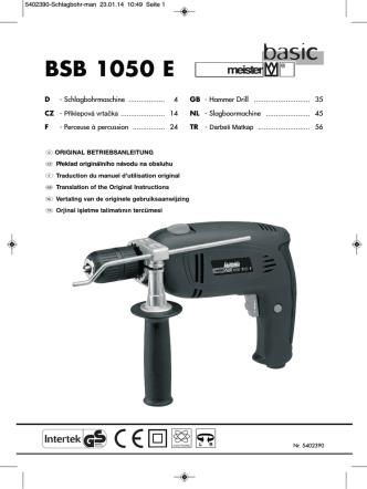 BSB 1050 E - Meister Werkzeuge