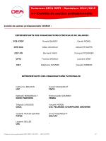 Comités de section professionnelle