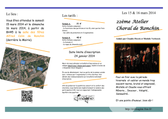 22ème Atelier Choral de Ronchin - Imagine