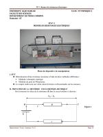 TP 3 Mesure de résistances électriques