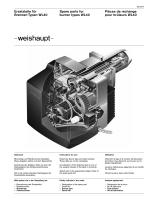 Ersatzteile für Brenner-Typen WL40 Spare parts for burner types