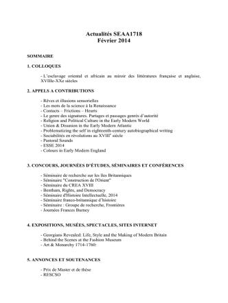 Actualités SEAA1718 Février 2014 - sfeds
