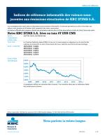 Notes KBC IFIMA NV liées au taux 5Y EUR CMS