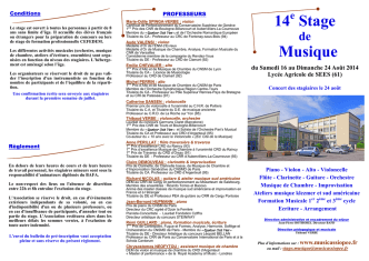 14 Stage Musique - Musicassiopée 2014