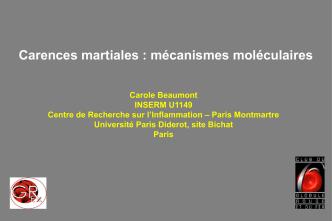Carences martiales : mécanismes moléculaires