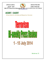 Bi-weekly Press Review 1-15 July 2014