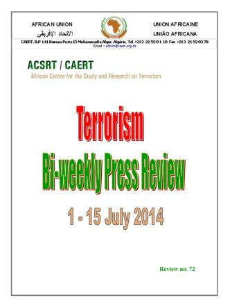 Bi-weekly Press Review 1-15 July 2014