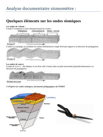 Analyse documentaire sismomètre :