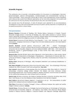 Scientific Program_CEAEC - Royal Belgian Institute of Natural