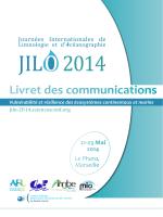 Livret des communications - Journées Internationales de Limnologie
