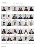 Portraits 2014-2015