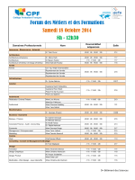 Liste des domaines et des intervenants