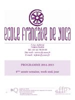 Programme 4ème année 2014-2015