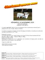 VENDREDI 14 NOVEMBRE 2014