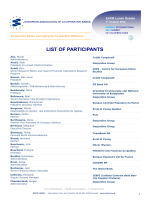 LIST OF PARTICIPANTS