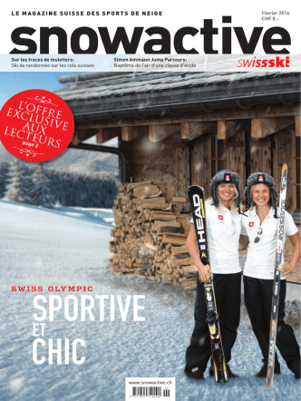 2014 Février: « sportive et chic - Swiss-Ski