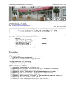 CR réunion Conseil syndical du 22/01/2014