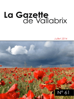 La Gazette - Vallabrix