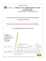 BPU - Communauté de communes Meuse et Semoy