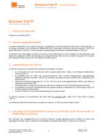 description simplifiée du service Business Talk IP et numéros