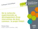le projet PANJO