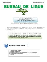•ORDRE DU JOUR - Ligue de Football de la Wilaya de Tizi