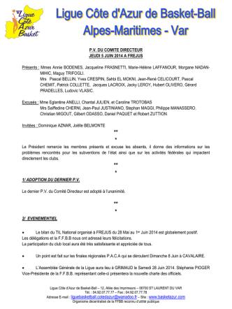 club disposition financieres 2014/2015 cotisations licences (hors