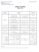 INSTITUT AL WAFAA Année scolaire : 2001/2002
