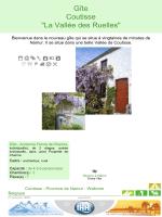 """Gîte Coutisse """"La Vallée des Ruelles"""""""