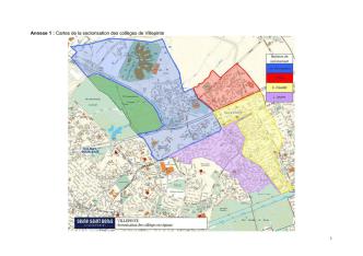 Annexe 1 : Cartes de la sectorisation des collèges de Villepinte