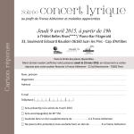Soirée concert lyrique