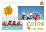 Le catalogue Colos Eté 2015 est arrivé ici en téléchargement