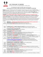 CALENDRIER DES ACTIVITES mis à jour au 13 mars 2015