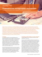 Financements intragroupes: nouveautés