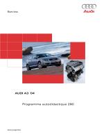 Programme autodidactique 290 Audi A3 ´04