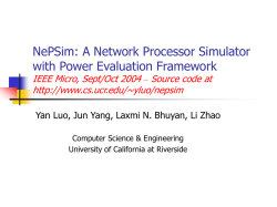 NePSim: A Network Processor Simulator with Power