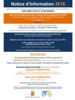 Notice d`Information 2016 - Institut de Formation Public Varois des
