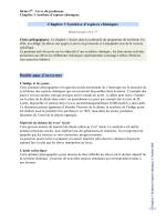 Chapitre 3 Synthèse d`espèces chimiques Double page d`ouverture