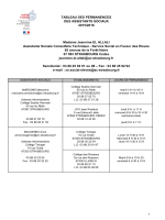 Permanences des AS et établissements.