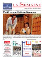 Théâtre cinq étoiles à Tramelan